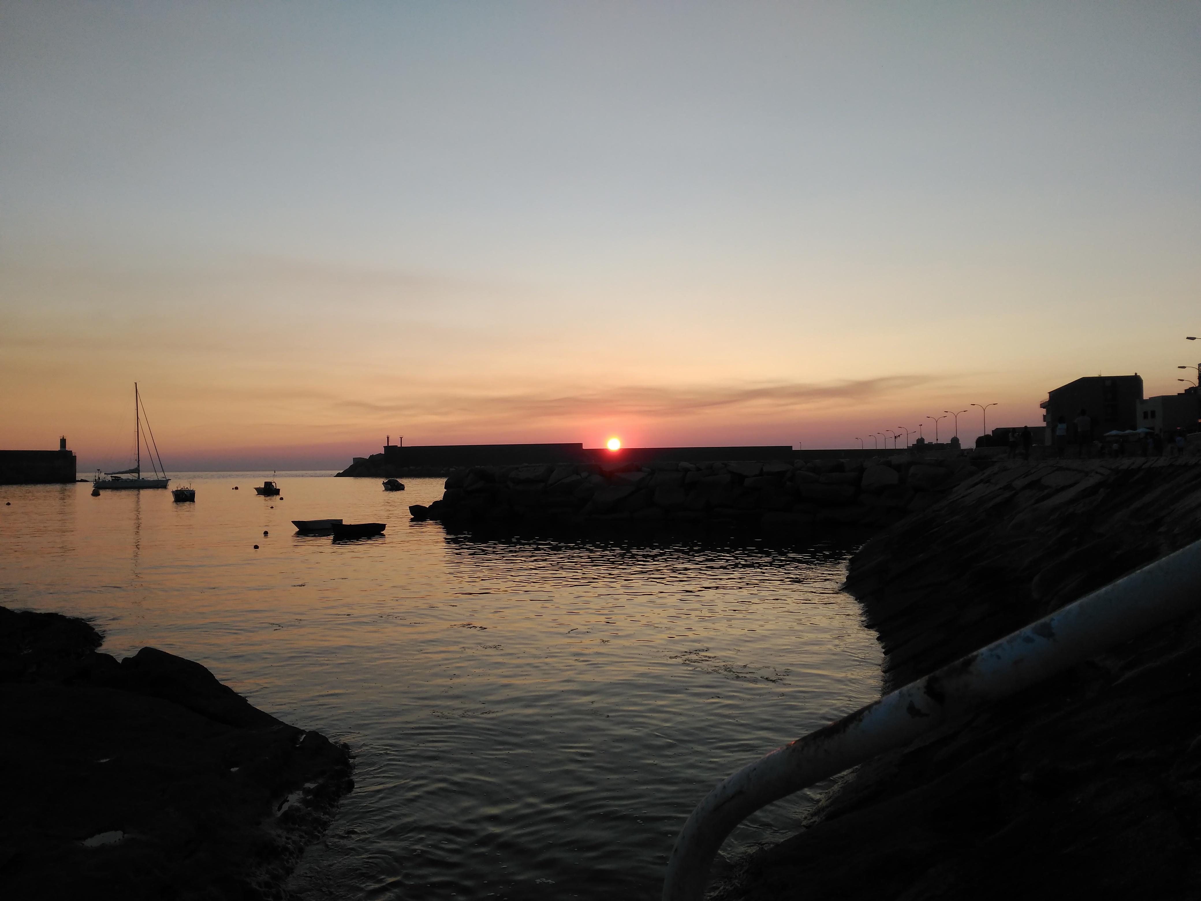 Puesta de sol en Galicia